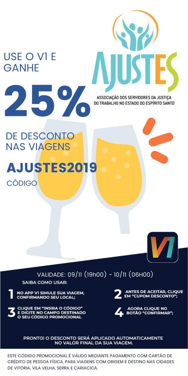 Festa de Confraternização:  V1 dará 25%  de desconto